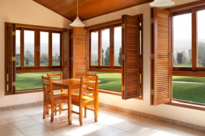 french door style shutters